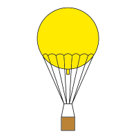 Pictogram of a gas balloon.